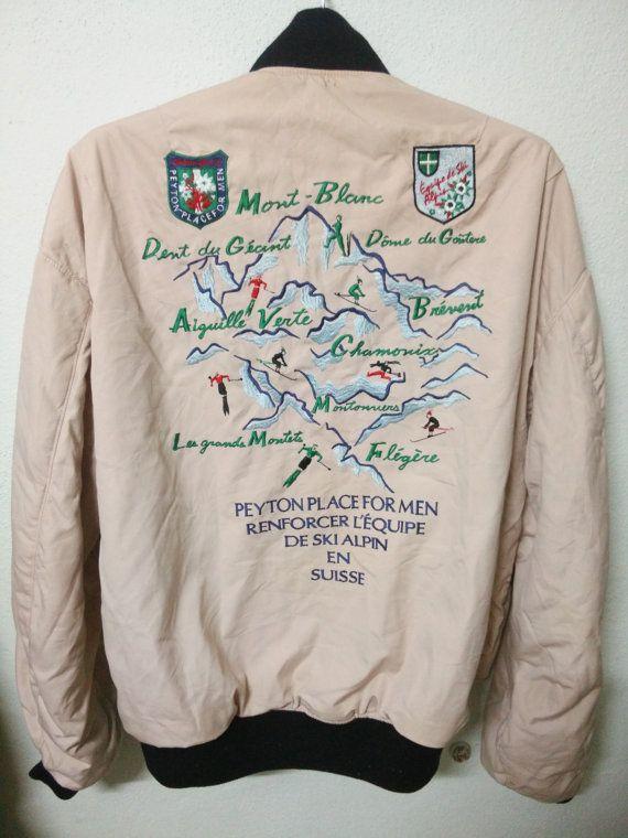 BIG SALE Peyton Place For Men Ski Jacket Embroidered Bomber