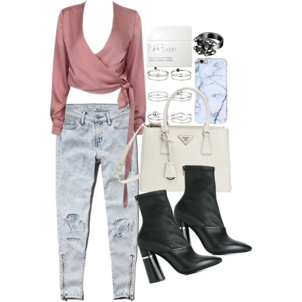A fashion look from February 2017 featuring Abercrombie & Fitch jeans, 3.1 Phillip Lim ankle booties and Prada handbags. Browse and shop related looks.