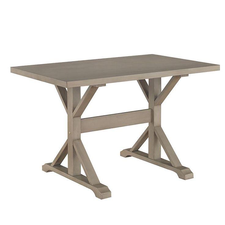 Carolina Cottage Delano Weathered Gray Writing Trestle Desk T4830 Wg Trestle Dining Tables Dining Table Wood Dining Table