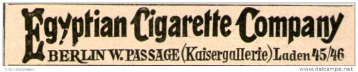 Original-Werbung/ Anzeige 1899 - EGYPTIAN CIGARETTE COMPANY BERLIN - ca. 65 x  10 mm
