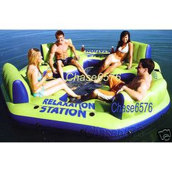 Intex Inflatable Island Water Pool Float Tube. Want for the lake