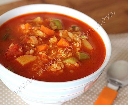 Sebzeli Bulgur Çorbası