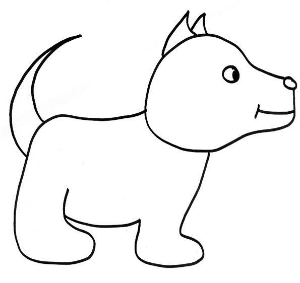 Les 25 meilleures id es de la cat gorie dessin chien - Chat facile et gratuit ...