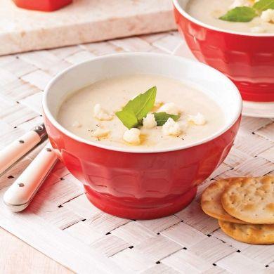 Crème de chou-fleur et ail rôti - Entrées et soupes - Recettes 5-15 - Recettes express 5/15 - Pratico Pratiques - Fêtes - Noël - Recevoir