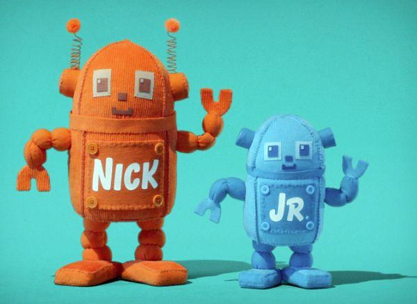 """Nick Jr """"Huggables"""" Logo IDs 2008 ( robots) by JULIA"""