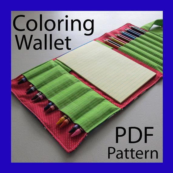 Para colorear cartera patrón PDF por TurnbowDesigns en Etsy