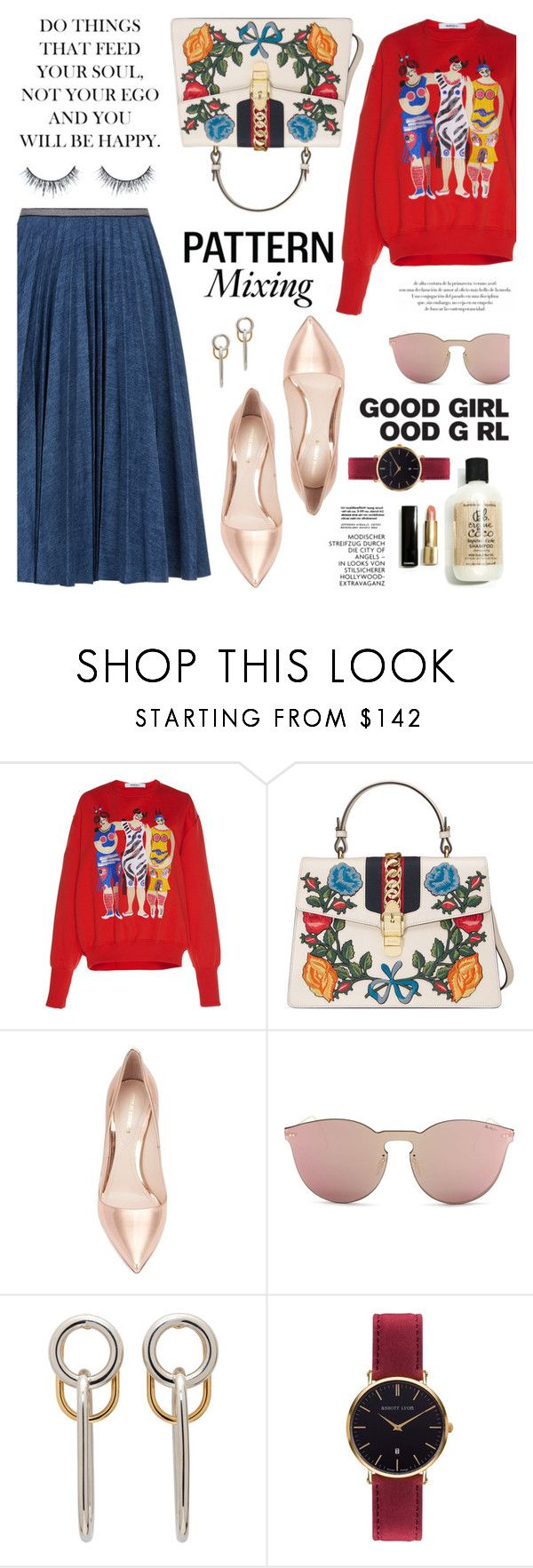 """""""But there is blood on my hands, and my lips are unclean"""" by liquidvisions ❤ liked on Polyvore featuring Leur Logette, Gucci, Nicholas Kirkwood, Illesteva, Alexander Wang and Abbott Lyon"""