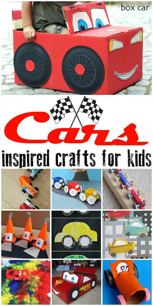 Be inspired by Disney Pixar's Cars 3 this summer and get creative with the kids with these Cars inspired crafts for all ages.