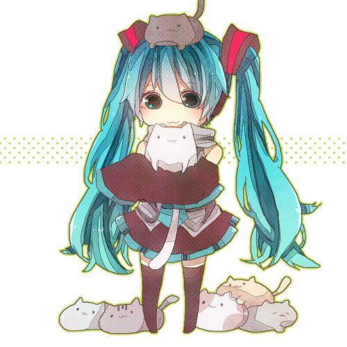 16 best images about nekos on pinterest chibi cute - Cute anime miku ...