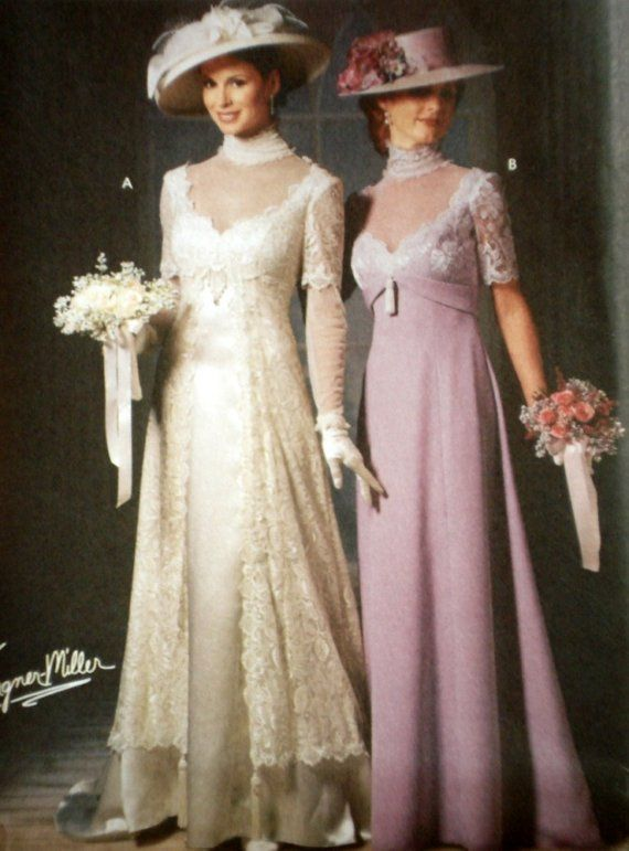 Edwardian Style Gown Pattern Simplicity 9716 by ThePlayfulNeedle