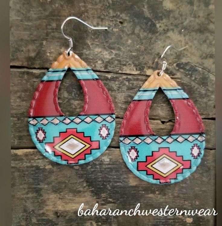 Cowgirl Bling Gypsy EARRINGS aztec southwest tribal western #Baharanchwesternwear #pierced