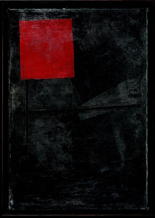 Kasimir Malevitch - Red square on the black, 1920-24