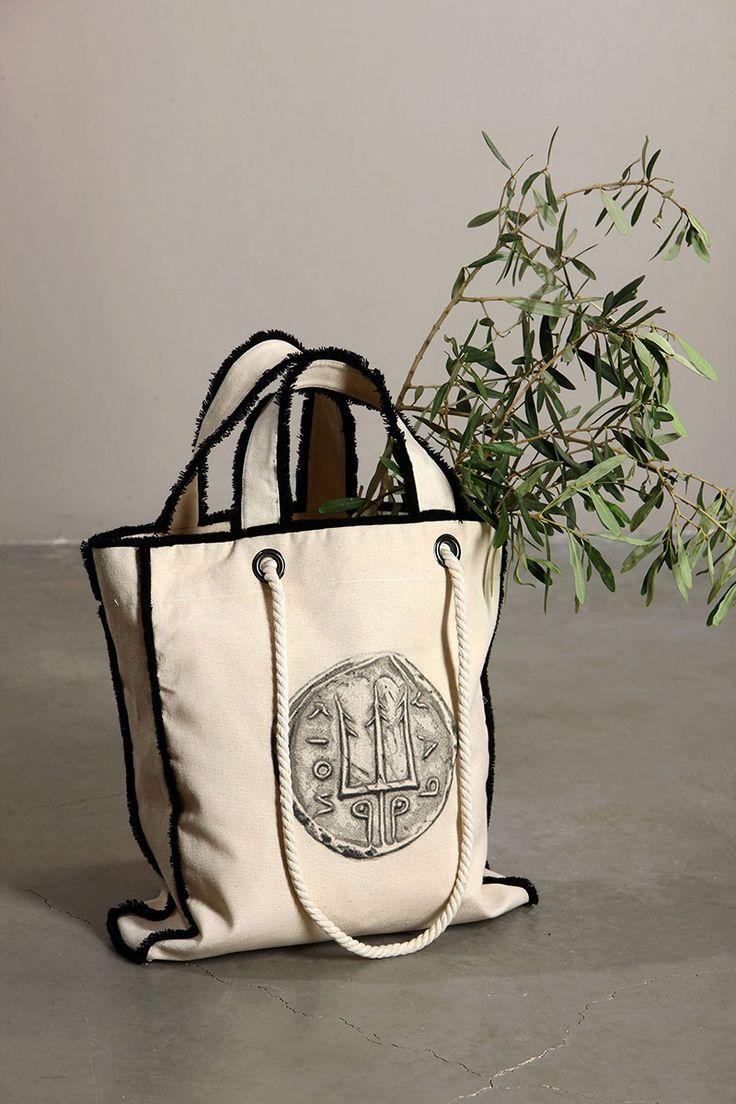 Ancient Kallos | Hellas Resort Wear  Poseidon Tote Bag