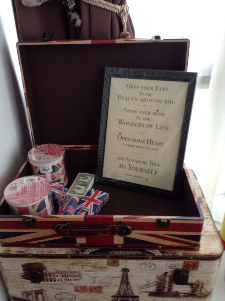Wedding deco, Union Jack toilet paper, Union Jack brief case and sweet words on a frame! British Invasion theme!