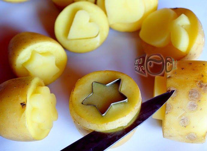 handmadeROOM: ...zemiakové pečiatkovanie/bramborové razítkovanie...