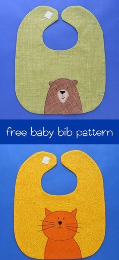 Baby Bib Pattern - adorable and free from Shiny Happy World