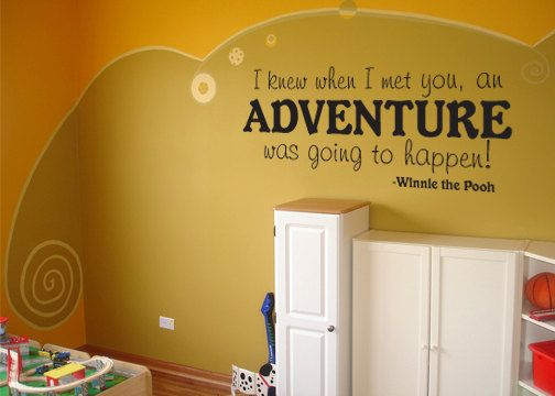Winnie the Pooh Adventure quote large size vinyl wall decal. $34.00 ...