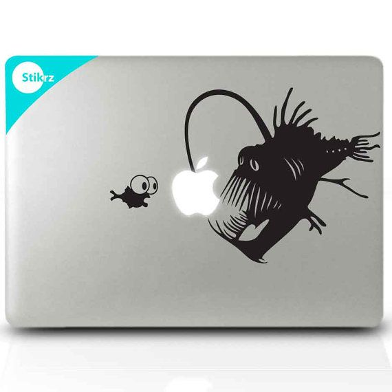 Macbook Decal Sticker for your computer laptop board or by stikrz, $9.98    Angler fish!!!!