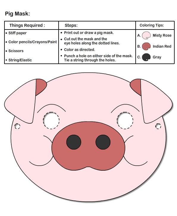 Masks Crafts for Kids | Learn to Make Pig Mask