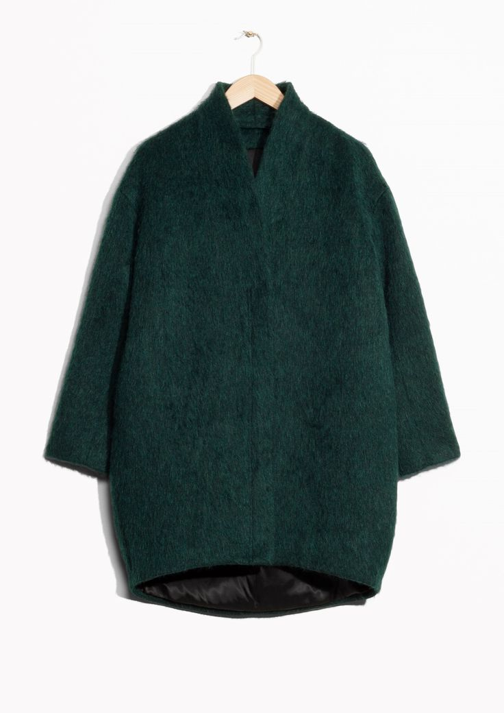 Other Stories image 2 of Wool-Blend Coat in Green Dark