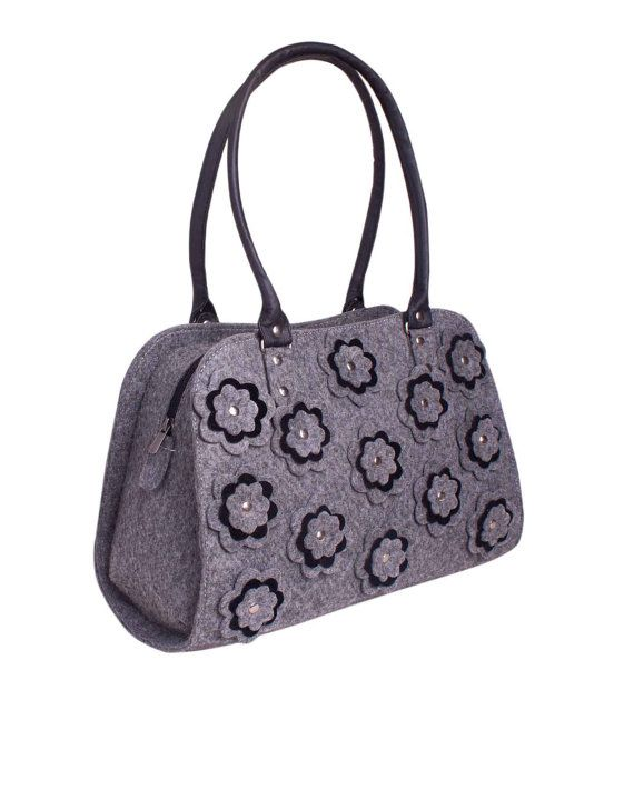 SALE Beauty Tote Bag in Grey Diaper bag Women Tote Bag by volaris