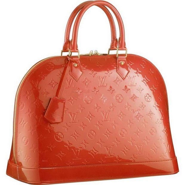 Borse Louis Vuitton Alma Vernis Monogram MM M93626 Arancione