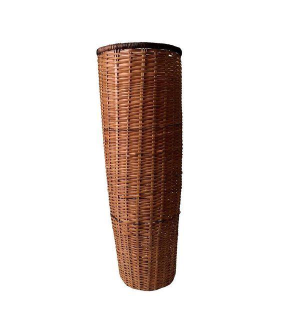 Vintage Wicker Umbrella Cane Basket Woven Wicker Umbrella Vintage Wicker Cane Baskets Wicker