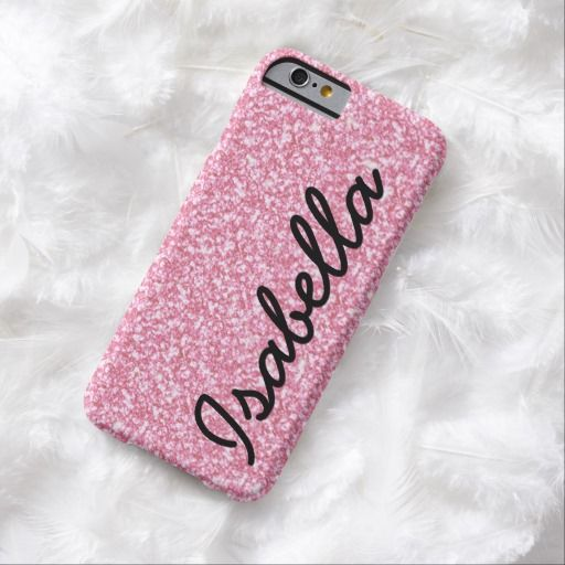 Cute iPhone 6 Case! This PINK GLITTER PRINTED PERSONALIZED iPhone 6 CASE can be personalized or purchased as is to protect your iPhone 6 in Style!