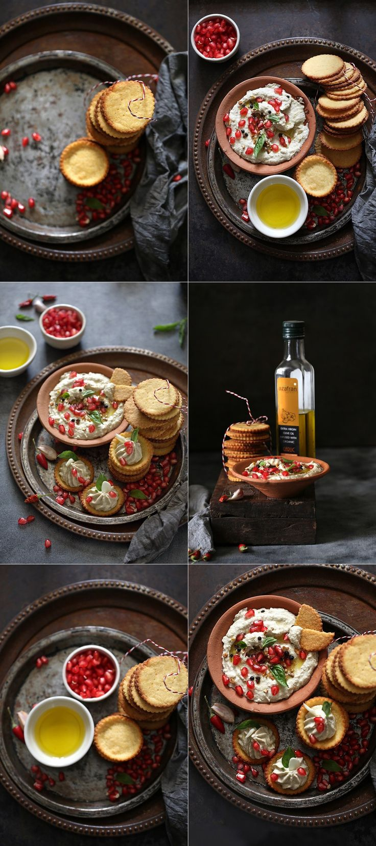 Polenta Cheese Crackers and a cracker of an Eggplant Melon Seed Dip … with infused olive oils - Passionate About Baking
