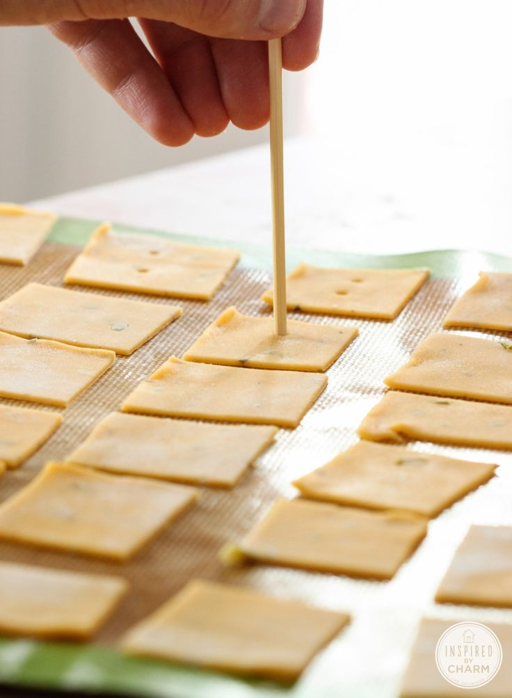 Make your own cheez-its! You won't believe how easy these are!