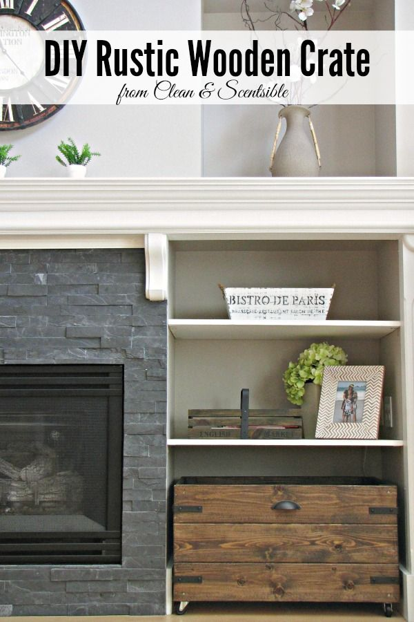DIY Rustic Wooden Crates - the perfect way to add style and storage to your space!