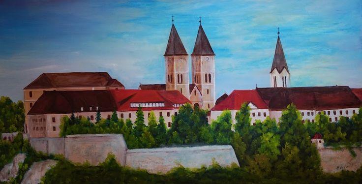 Veszpremi vár, oil painting 90 x 150