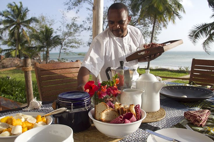 At Dar House in #Zanzibar, a dedicated chef and staff make sure your every wish is fulfilled, from preparing surf-fresh #seafood meals to arranging tours on and around the #island. #GourmetAfrica #Africa #beach #cuisine