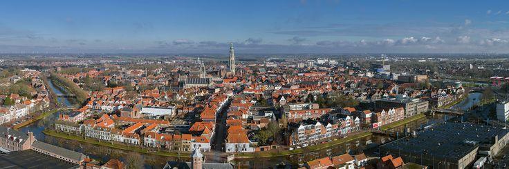 Middelburg vanuit de lucht. Luchtfotografie met drone