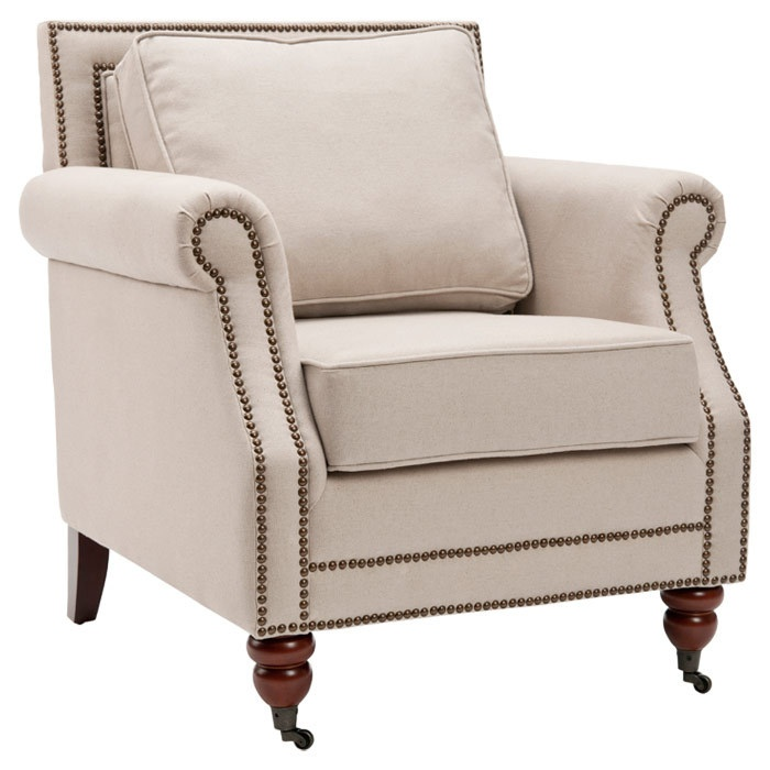 Exceptional Larache Arm Chair   Beautifully Blending Modern Style And Classic Appeal,  This Wood Framed Arm Chair Showcases Linen Upholstery And Nailhead Trim.