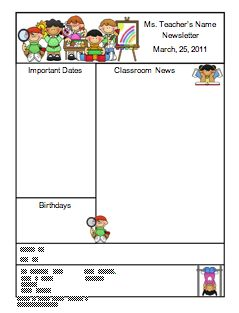 1000+ ideas about Teacher Newsletter Templates on Pinterest ...