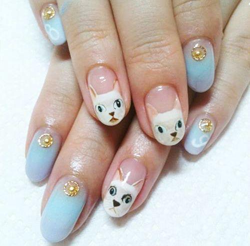 Kitties!Cat Nails Art, Kitty Cat, Nailart, Nails Design, Cute Cat, Crazy Cat, Nail Art, Hello Kitty Nails, Cat Lady