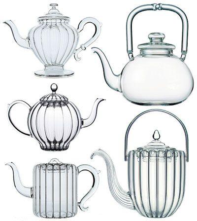 hand-blown glass teapots , Parisian salon Mariage Freres