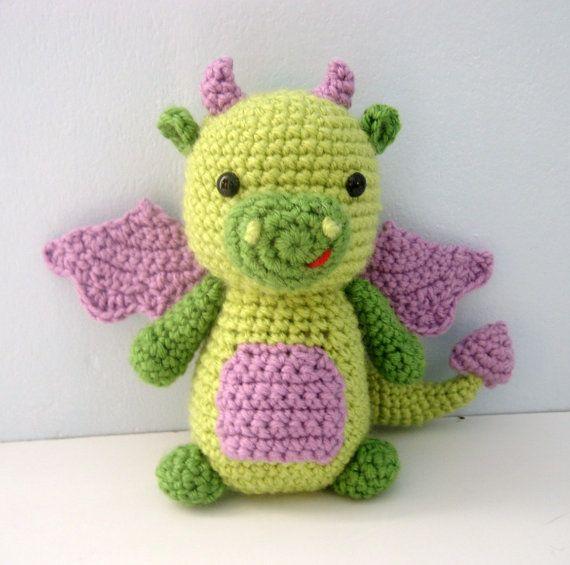Amigurumi Dragon Crochet Pattern Digital Download por AmyGaines