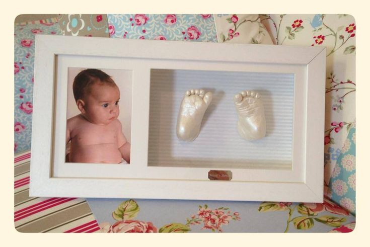Baby Boy Cast framed with photo insert
