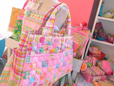 パッチワークキット Big Bag ~ときめきチェック (ピンク)~