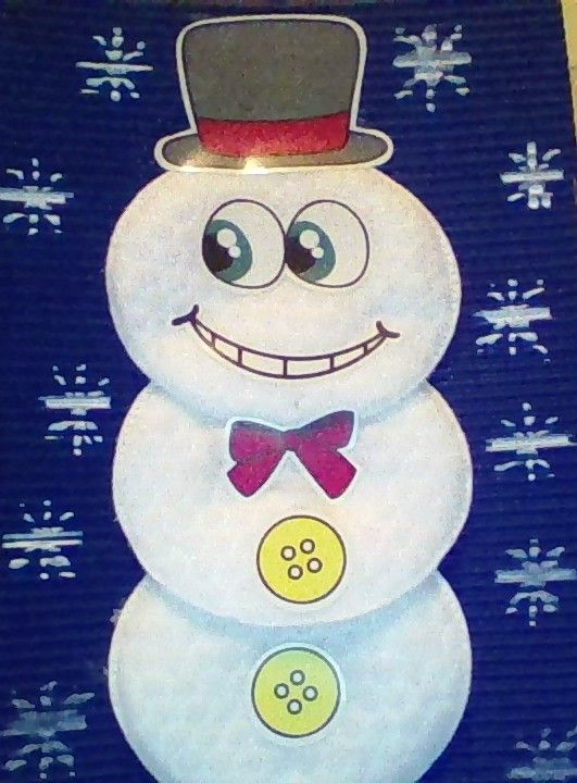 Bonhomme de neige avec coton