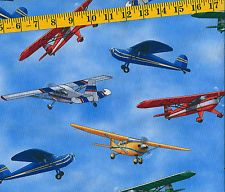 """jet, airplane flannel fabric 