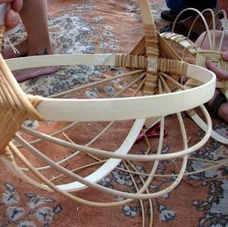 Basket weaving --- This brings back memories! We made these when I was tiny but I don't know if I'll remember how to now.