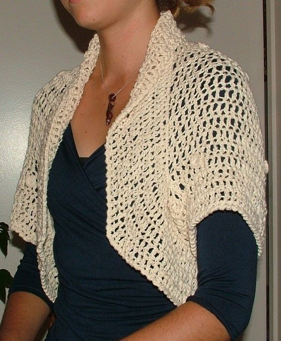 Easy Crochet Shrug Pattern PDF  Summer Shrug in 3 by rensfibreart, $5.00