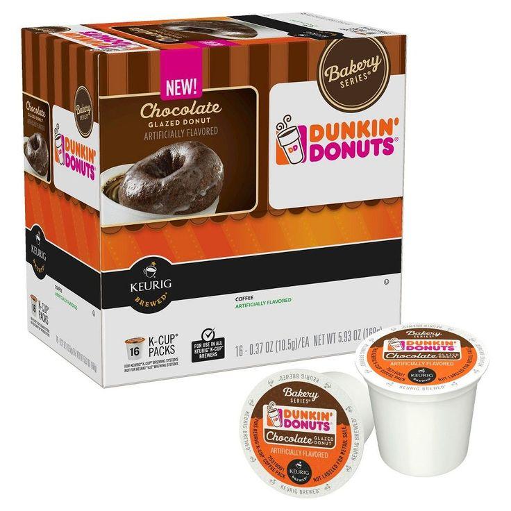 Dunkin donuts chocolate glazed donut coffee kcup pods 16