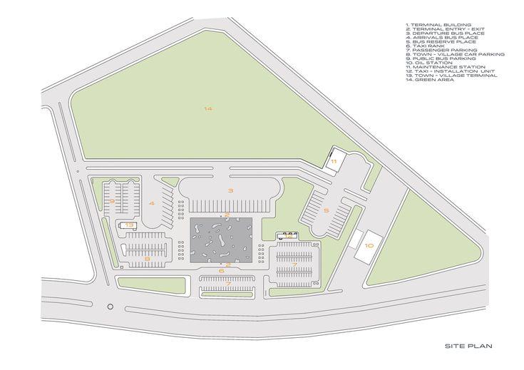 Nevsehir Bus Terminal,Site Plan