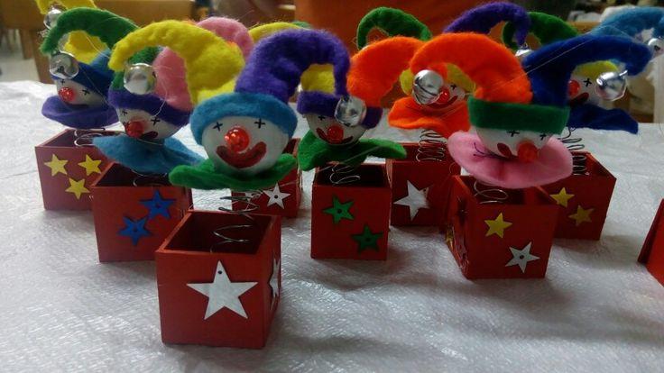 Clown in a box Christmas ornament