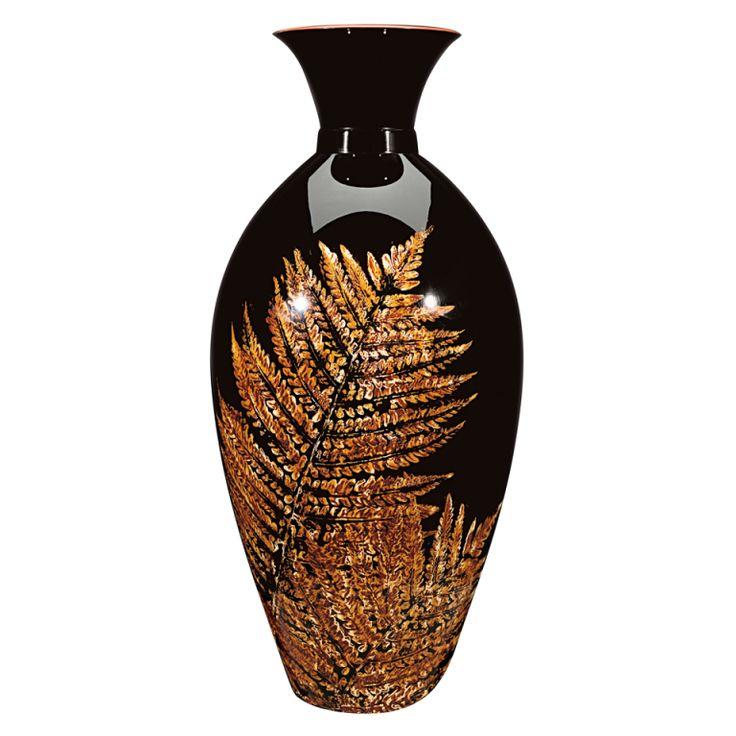 Mori Miki 1930s Modernist Lacquer Fern Vase