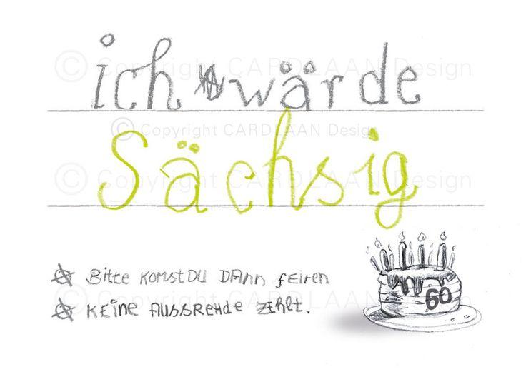 Einladungskarten - Einladung 60. Geburtstag (Sächsig) - ein Designerstück von…